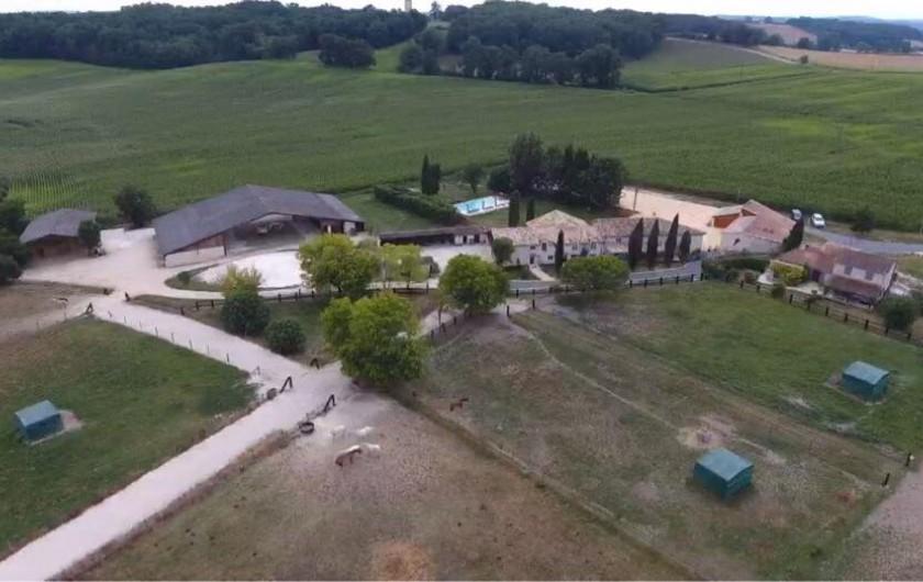 Location de vacances - Gîte à Lougratte - Les Gîtes de la Ferme Hermance au sein de la Ferme équestre de Tourette
