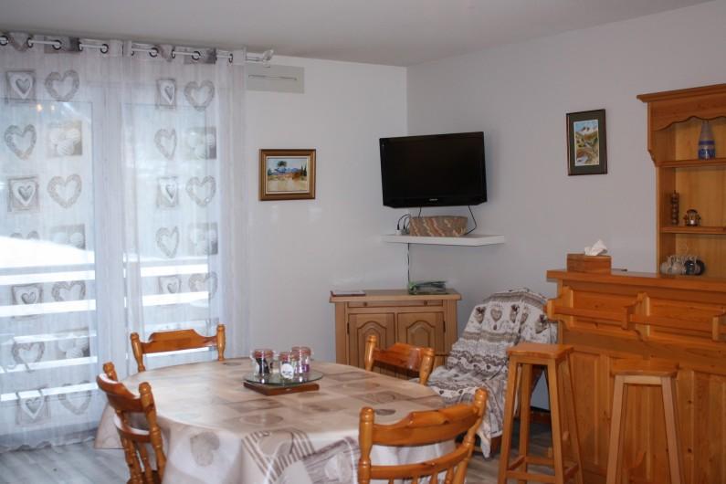 Location de vacances - Appartement à Séez - pièce à vivre :salle à manger
