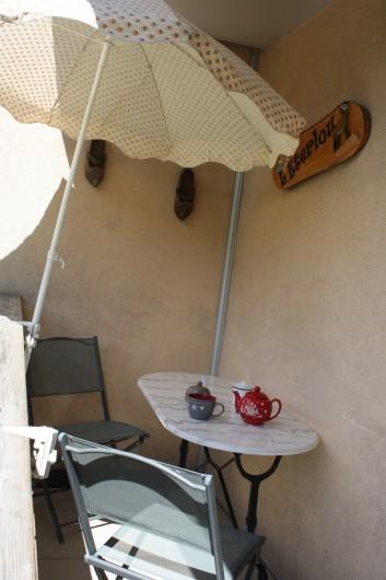Location de vacances - Appartement à Séez - balcon