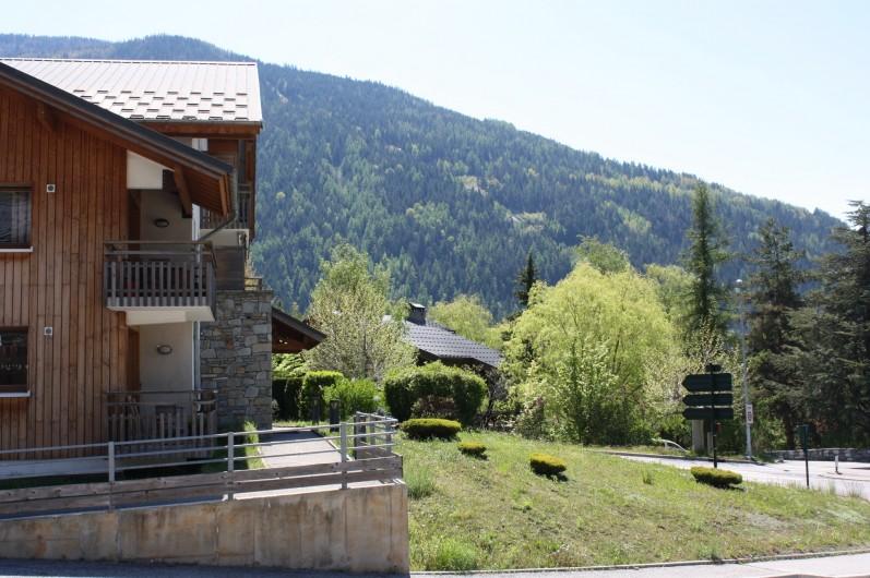 Location de vacances - Appartement à Séez - vue du balcon  exposition sud Eté