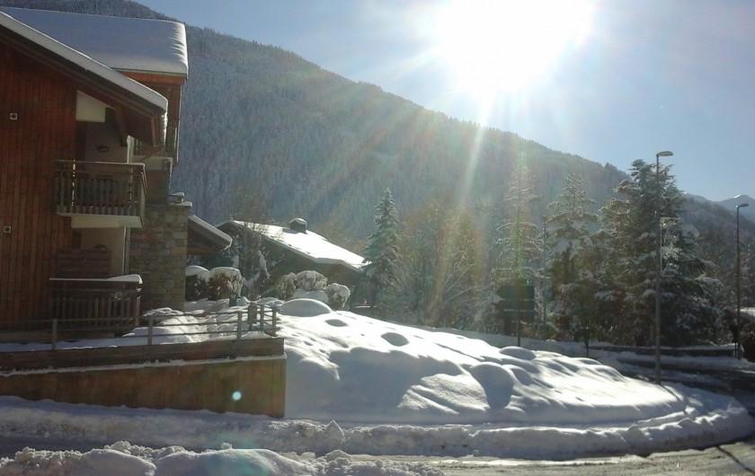 Location de vacances - Appartement à Séez - vue balcon hiver