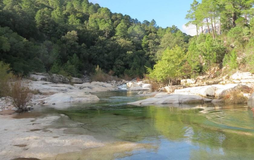 Location de vacances - Villa à Conca - La vallée du CAVU en montagne à 30 mn,  baignade et fraîcheur