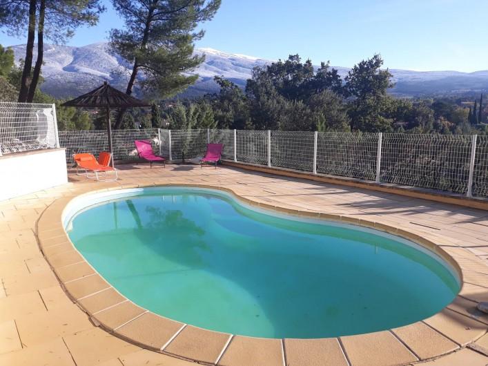 Location de vacances - Villa à Bédoin - Piscine