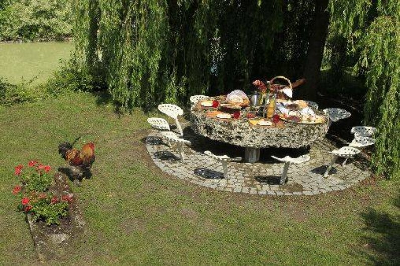 Location de vacances - Chambre d'hôtes à Marchais - déco du jardin