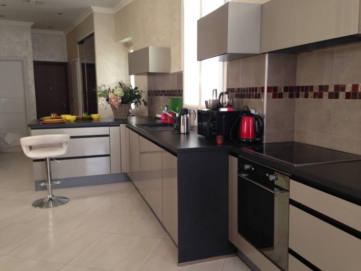 Location de vacances - Appartement à Monaco-Ville - la cuisine du grand appartement