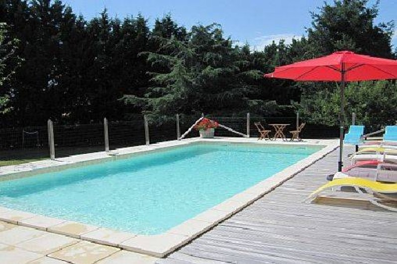 Location de vacances - Maison - Villa à Mauzac-et-Grand-Castang - Piscine 10 x 5 entièrement clôturée