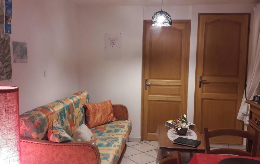 Location de vacances - Chambre d'hôtes à Le Menil - salon privatif