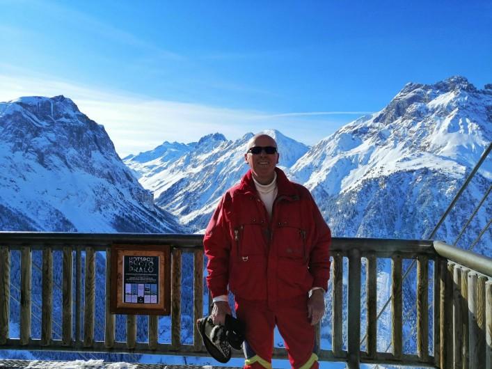 Location de vacances - Appartement à Pralognan-la-Vanoise - Votre serviteur en haut du téléphérique, le Mont Bochor