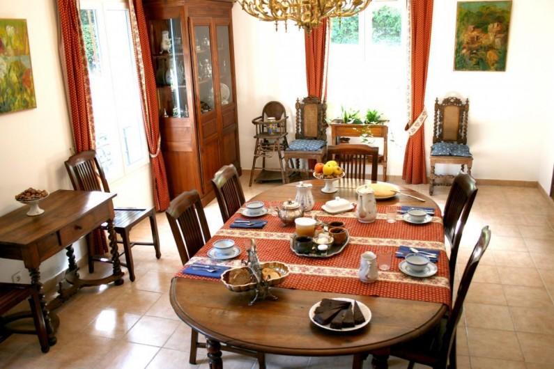 Location de vacances - Chambre d'hôtes à Saint-Martin-le-Vieil - Le petit-déjeuner
