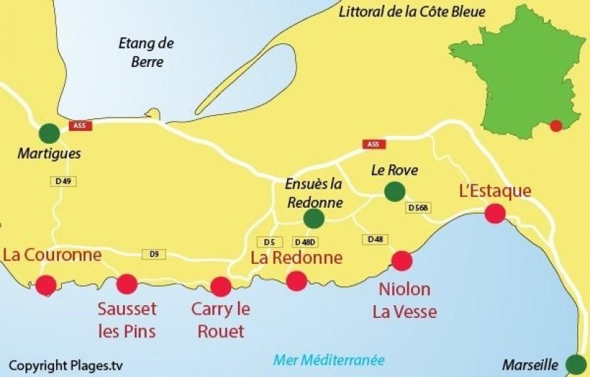 Location de vacances - Appartement à 16e Arrondissement - Plages de la côte Bleue