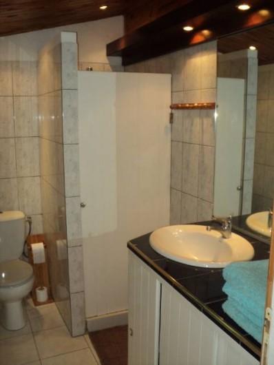 Location de vacances - Gîte à Bois De Nèfles - Salle douche -toilettes, lavabo