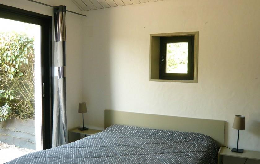 Location de vacances - Gîte à Sallertaine - chambre parents 2 lits de 80 ou 1 lit de 160