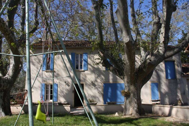 Location de vacances - Mas à Montfavet - Façade sud de la maison