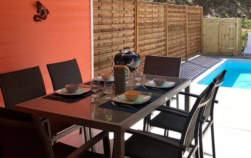 Location de vacances - Villa à Les Trois-Îlets - Coin repas 6 personnes