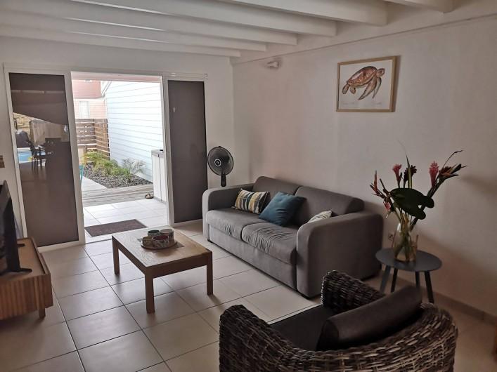 Location de vacances - Villa à Les Trois-Îlets - Canapé convertible