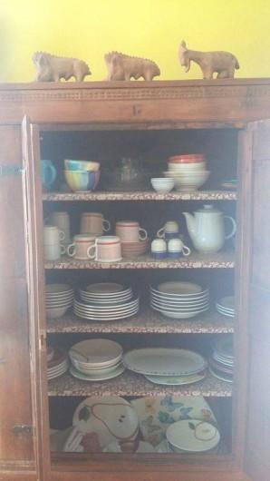 Location de vacances - Appartement à Levanto - armoire a la vaisselle