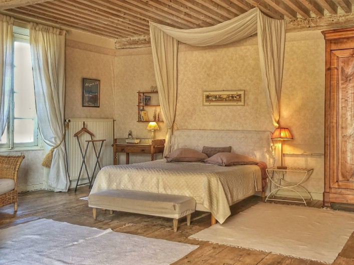 Location de vacances - Chambre d'hôtes à Chadeleuf - chambre ivoire