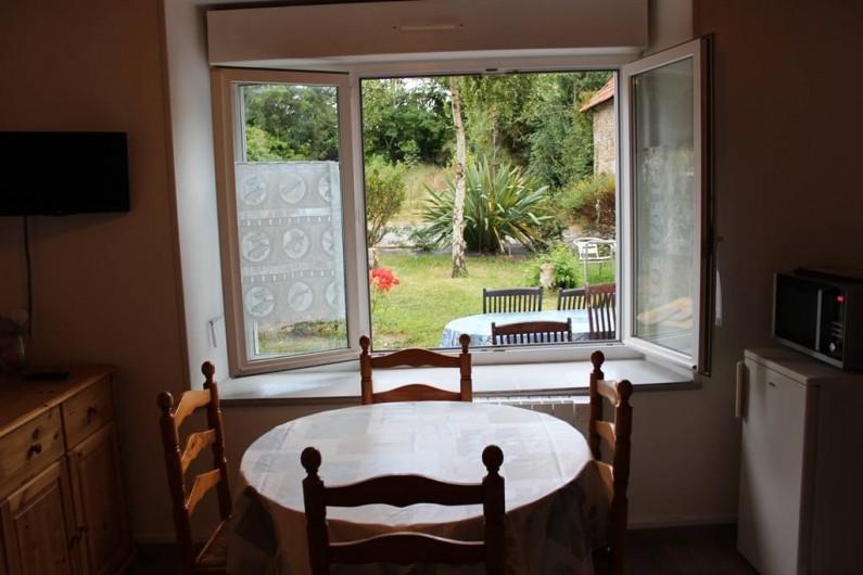 Location de vacances - Appartement à Saint-Pair-sur-Mer - vue sur le jardin