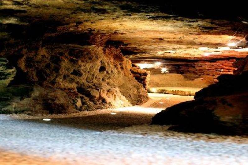 Location de vacances - Chambre d'hôtes à Beaune - Descente dans la grotte de la Terre d'Or.