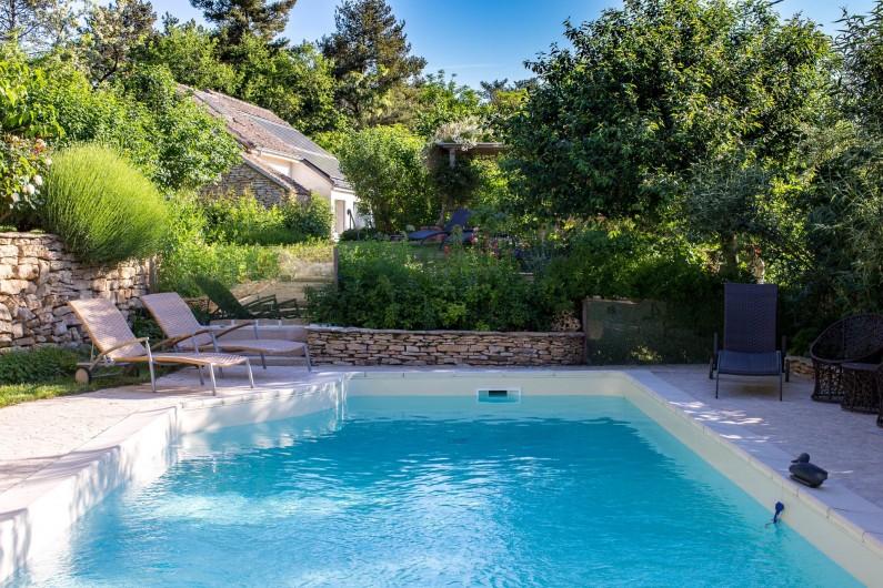 Location de vacances - Chambre d'hôtes à Beaune - La piscine de La Terre d'Or