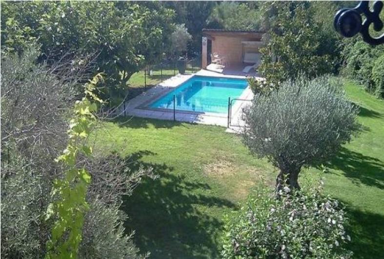 Location de vacances - Maison - Villa à Aix-en-Provence - Vue piscine