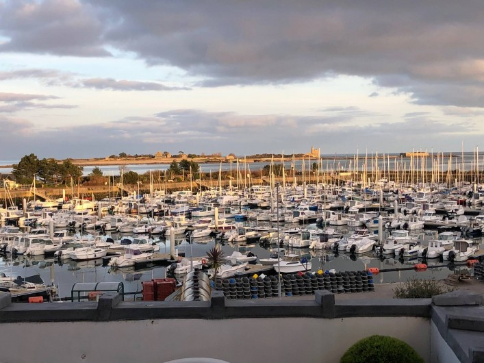 Location de vacances - Studio à Saint-Vaast-la-Hougue - vue de la terrasse