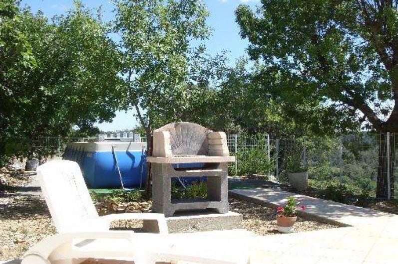 Location de vacances - Gîte à Bize-Minervois - terrasse