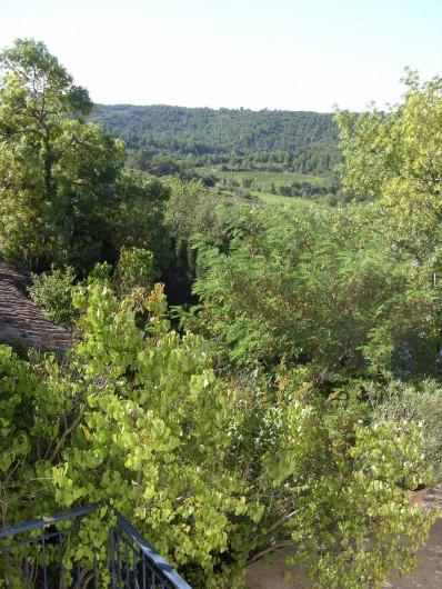 Location de vacances - Gîte à Bize-Minervois - vue d'une fenêtre  sur la campagne