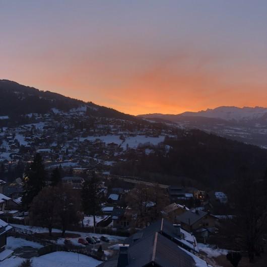 Location de vacances - Appartement à Saint-Gervais-les-Bains - Vue coucher de soleil