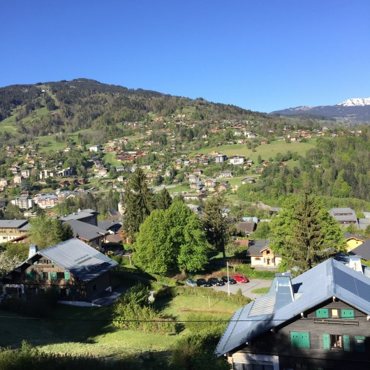 Location de vacances - Appartement à Saint-Gervais-les-Bains - chalet vue été