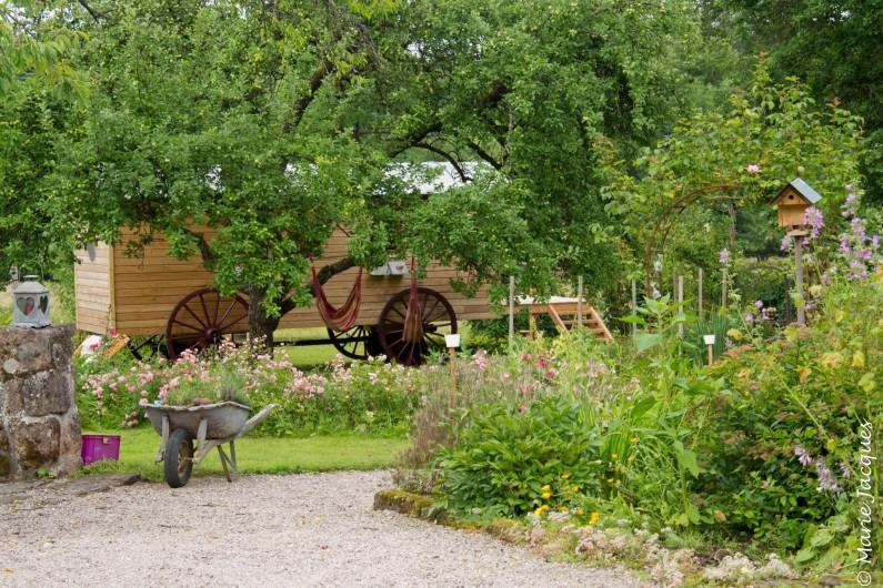 Location de vacances - Roulotte à Saint-Michel-sur-Meurthe - un écrin de verdure