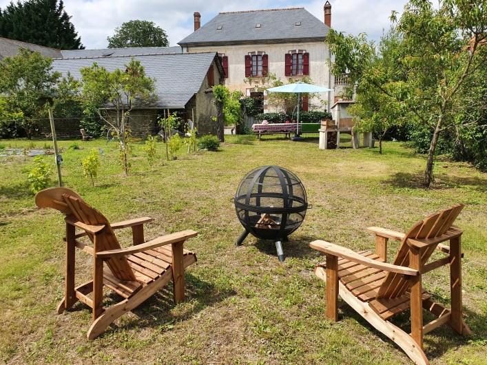 Location de vacances - Gîte à Bordères-sur-l'Échez - Vue du gîte depuis le jardin