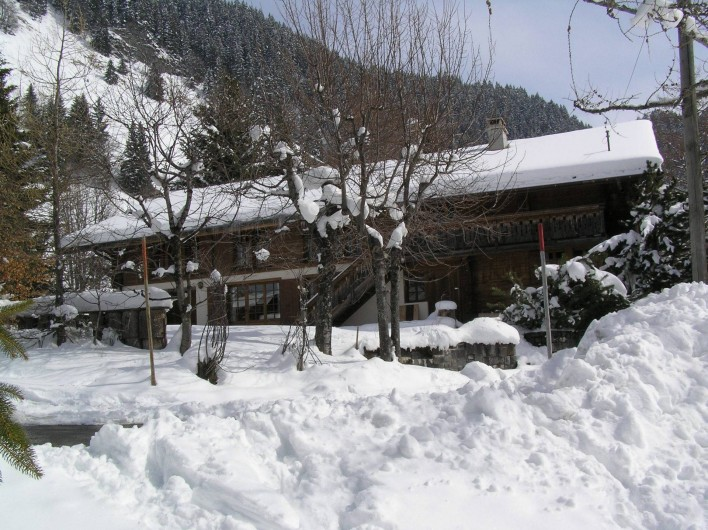 Location de vacances - Chalet à La Comballaz - facade ouest