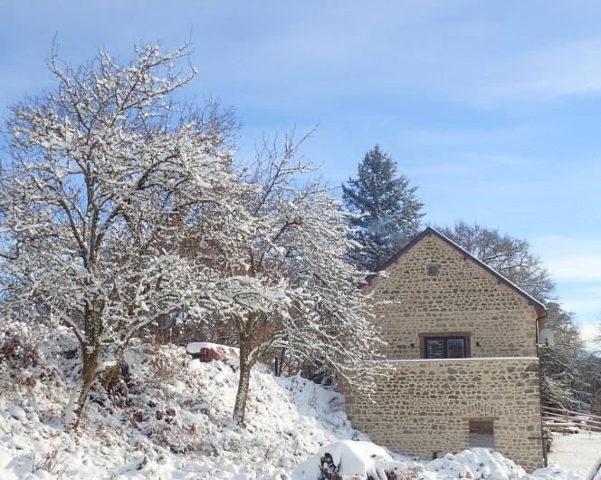 Location de vacances - Gîte à Saint-Hilaire-les-Courbes - L'hiver ....pour quoi pas Noel a La Grange?
