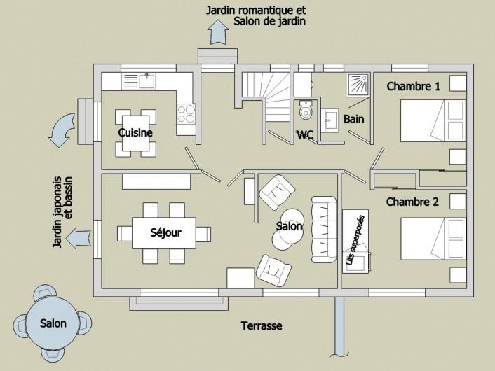 Location de vacances - Villa à Pierre-Châtel - Plan du Gîte