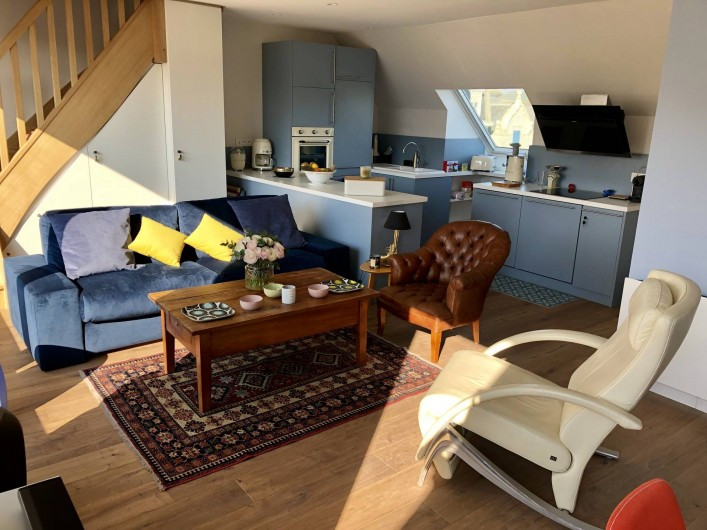 Location de vacances - Appartement à Wimereux - salon et cuisine