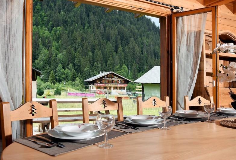 Location de vacances - Chalet à Châtel - vue sur ecole de skis