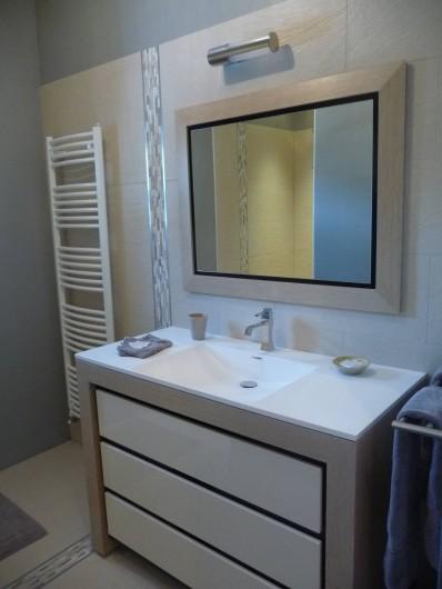 Location de vacances - Gîte à Saint-Jean-Saint-Germain - Salle de douche de la suite