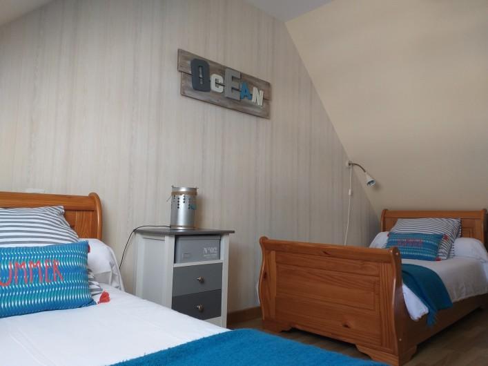 Location de vacances - Villa à Cléder - Chambre 2 lits