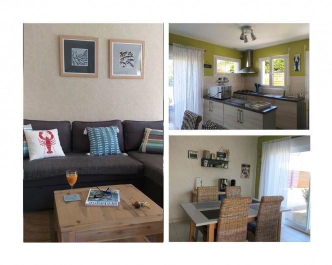 Location de vacances - Villa à Cléder - salon-séjour-cuisine