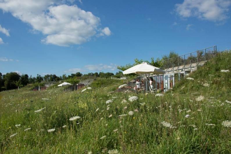 Location de vacances - Gîte à Sainte-Féréole - Plan d'eau au pied des gîtes