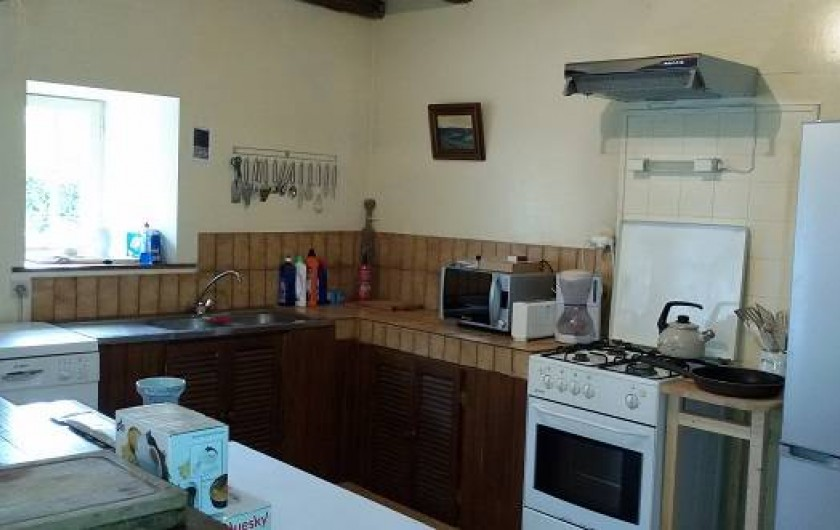Location de vacances - Château - Manoir à Tréguier - la grande cuisine