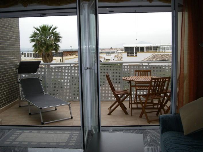 Location de vacances - Appartement à San Fulgencio - Terrasse salon
