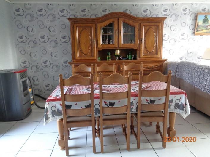 Location de vacances - Gîte à Houthem - salle à manger 6 personnes