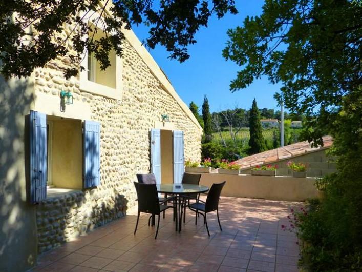 Location de vacances - Gîte à Cairanne - Gîte Les Vignes, terrasse