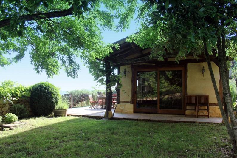 Location de vacances - Gîte à Saint-Cybranet - terrasse ouest