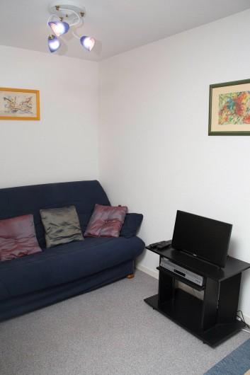 Location de vacances - Appartement à Villers-sur-Mer - Le coin canapé/TV