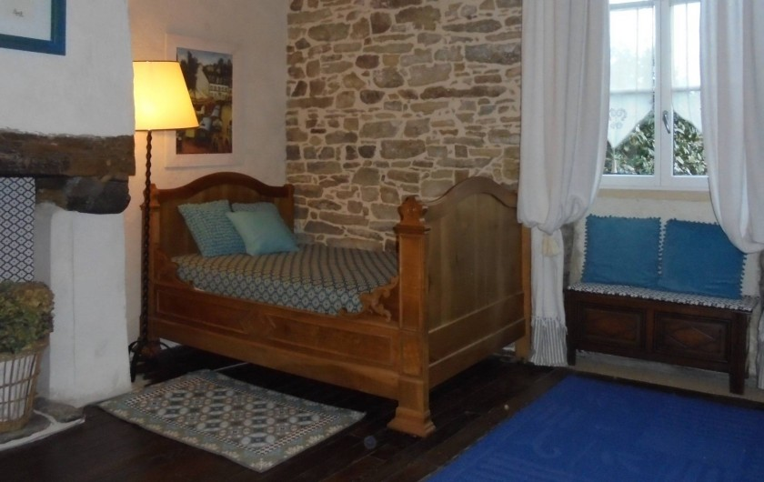 Location de vacances - Gîte à Melgven - La chambre au premier côté lit simple 120 x 190