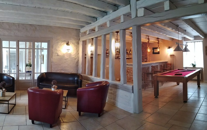 Location de vacances - Maison - Villa à Beaujeu-Saint-Vallier-Pierrejux-et-Quitteur - Espace détente