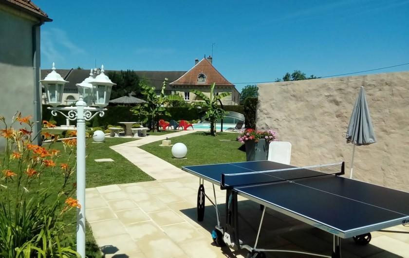 Location de vacances - Maison - Villa à Beaujeu-Saint-Vallier-Pierrejux-et-Quitteur - Table de ping pong